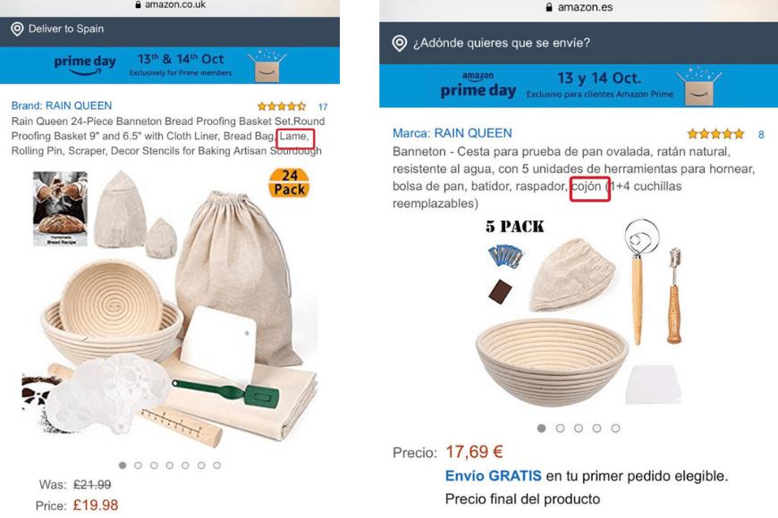 Traducción en Amazon