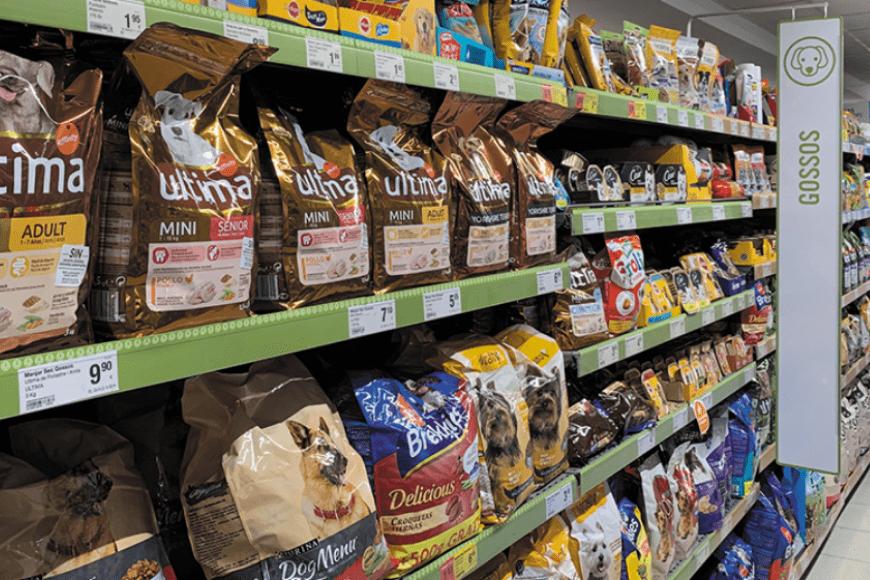 Pet marketing - Gondola de alimentos