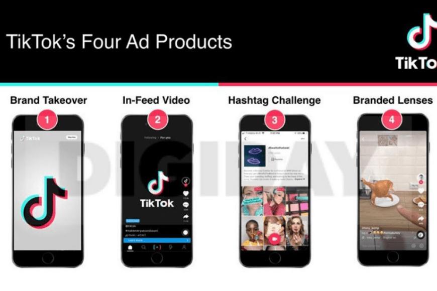 Diferentes formatos de Tik tok Ads