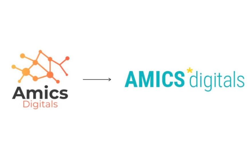 Cambio de logo de Amics Digitals