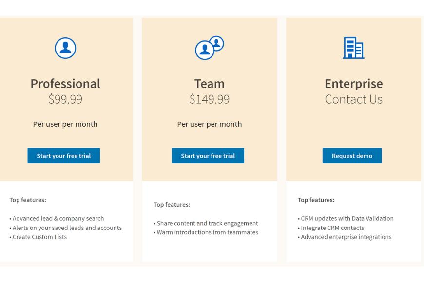 LinkedIn Sales Navigator planes